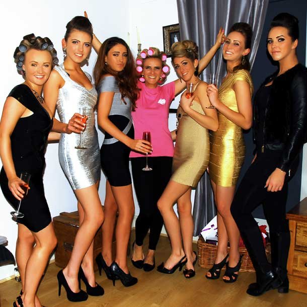 Elly Reber Style party make-over glamorous girls