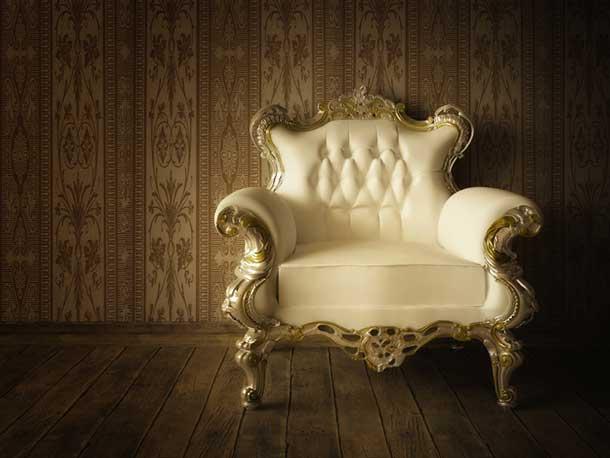 Concierge London white chair