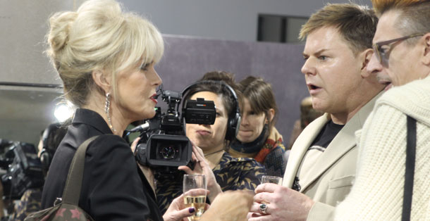 Joanna Lumley Kerry Taylor Auction Champagne