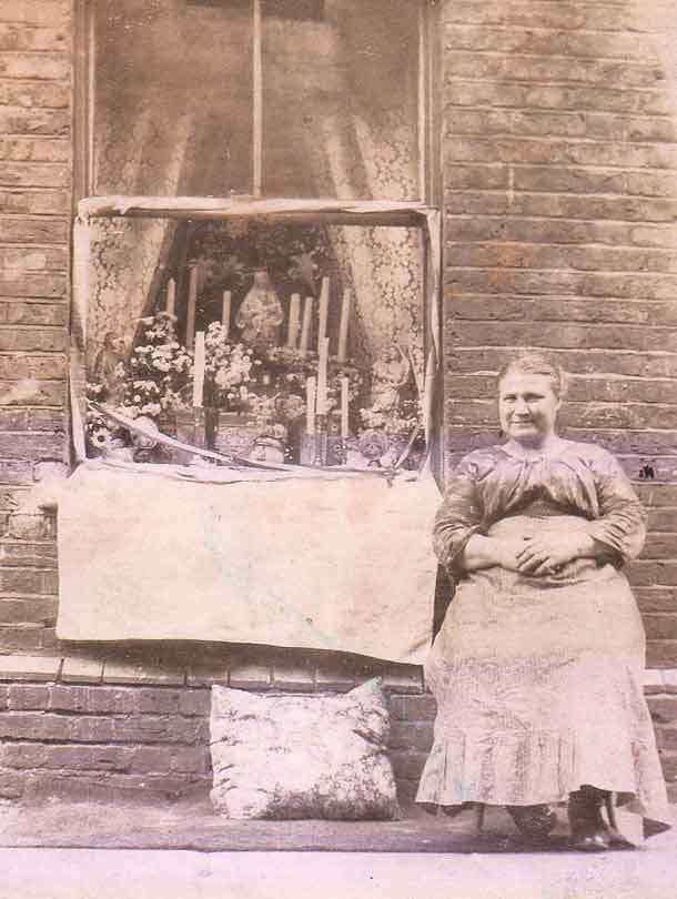 La Salette Altar Window Sepia Old Photo