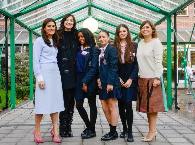 St Saviours & St Olaves Girls School London New Kent Road Inspiring Women Students Vogue Editor Alexandra Shulman Miriam González Durántez
