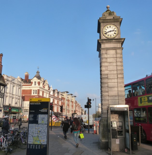 Clapham North Clock London Town Centre