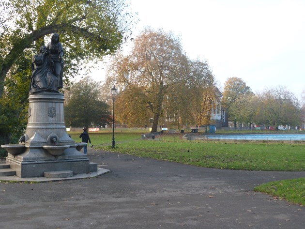 Clapham North Common London Statue Pool