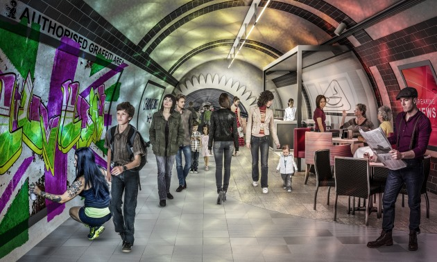 Cycling Tunnels London Underground Concept Imagery Tube
