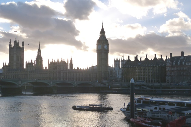London Southbank Houses Of Parliament Big Ben Skyline River Thames