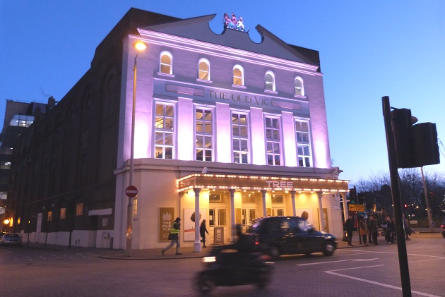 London Southbank The Cut Old Vic Theatre Evening