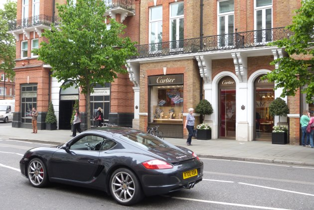 Sloane Square retail cartier jewellery porsce