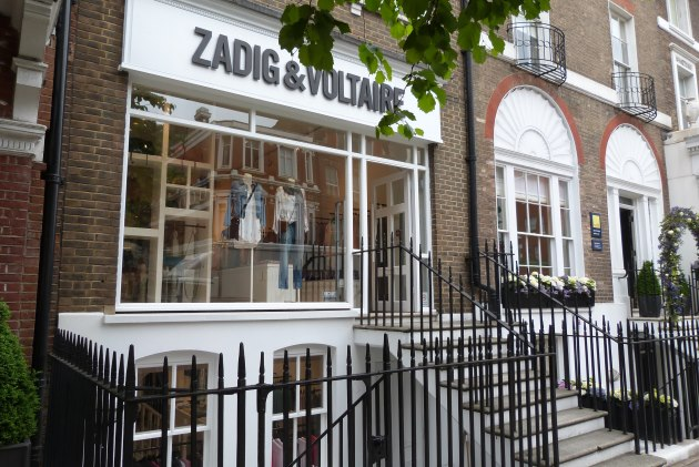 Sloane Square retail zadig and voltaire chic fashion
