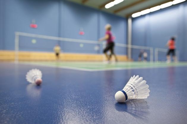 Sport in London sports hall badminton shuttle cock