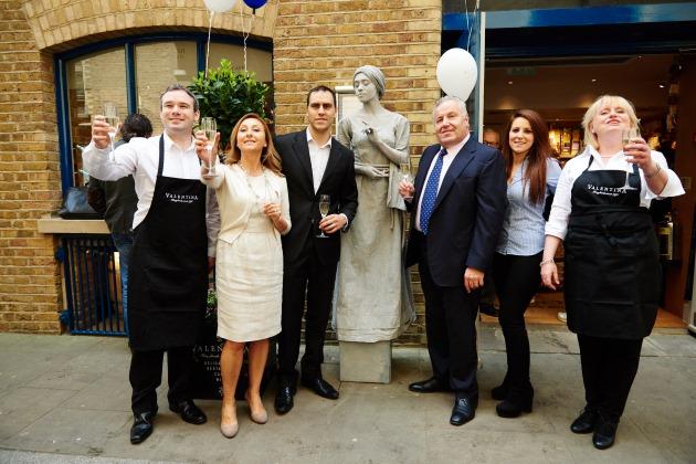 Valentina Deli Exterior Champagne Shad Thames London Italian Food
