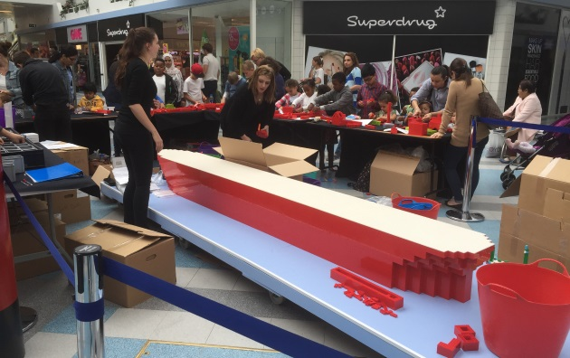 Lego shipbuilding ship boat surrey quays shopping centre rotherhithe community