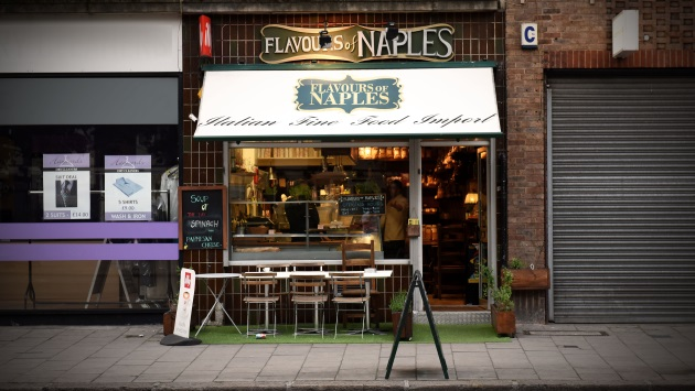 Flavours of Naples Borough High Street Opera Italian Deli Restaurant Singer Exterior