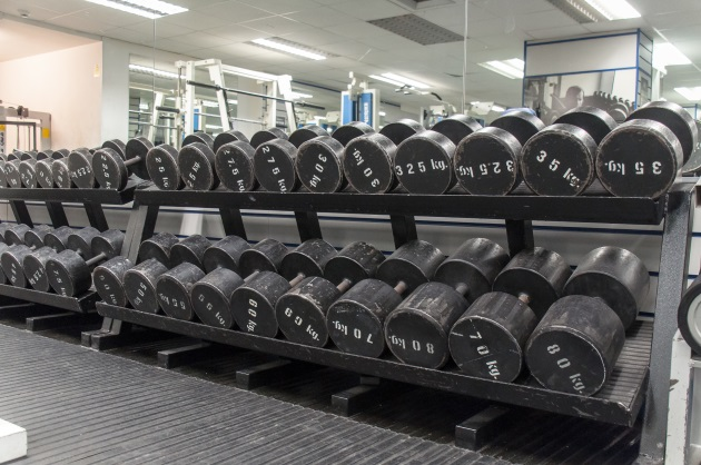 muscle factory gym bermondsey london fitness interior weight rack dumbells