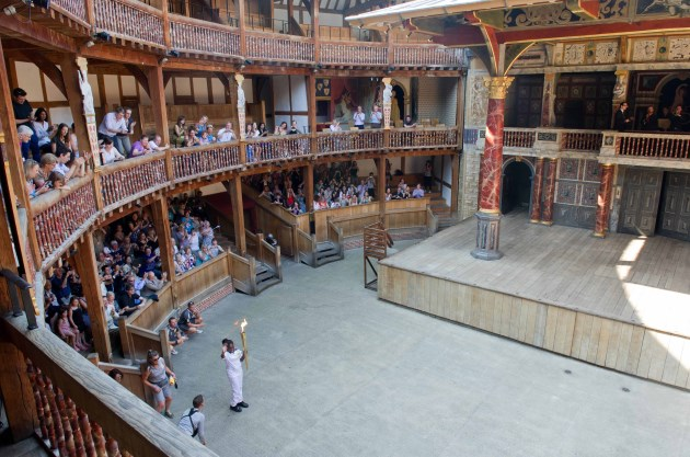 shakespeares globe london borough olympic torch relay