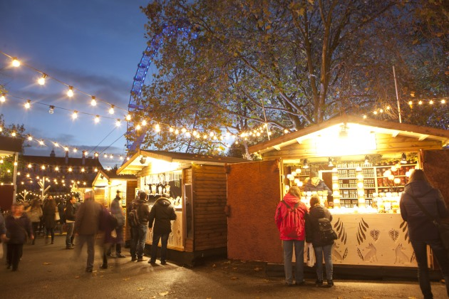 london christmas events winter southbank centre christmas market stall