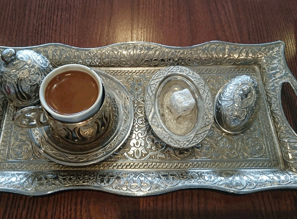 Coffee Served at Kilikyas, St Katharine Docks