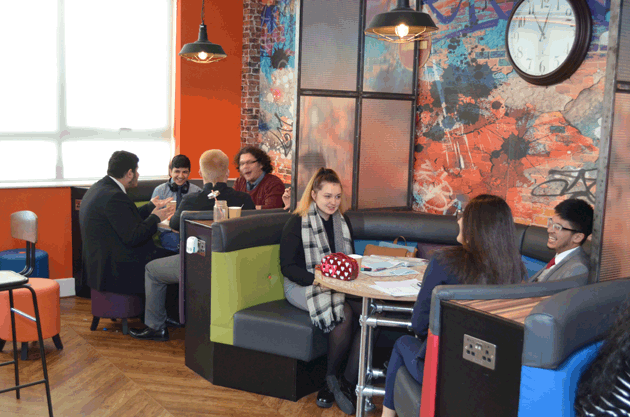 Cafe-style break out spaces