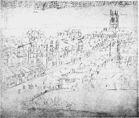 borough high street london southwark cathedral old sketch